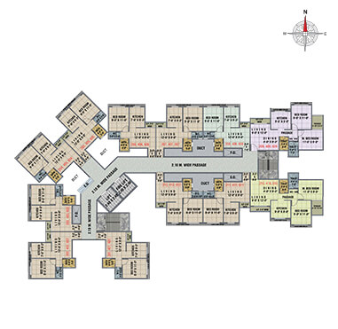 Arihant Anaika3 - Floor Plan - BLDG. J, 2nd, 4th & 6th Floor Without Terrace