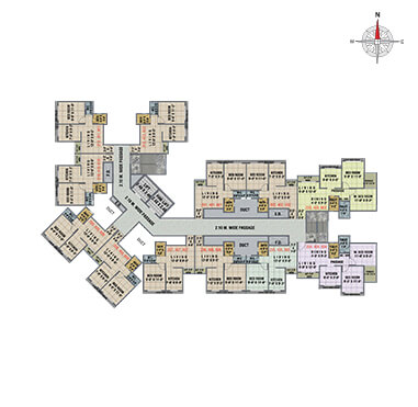 Arihant Anaika3 - Floor Plan - BLDG L, 2ND, 4TH & 6TH FLOOR WITHOUT TERRACE