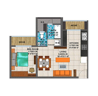 Arihant Aspire - Floor Plan